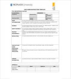 instruction template 7 free word excel pdf documents