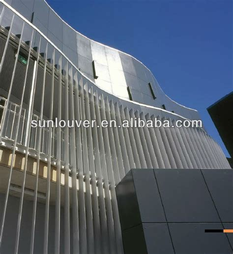 Sheet Metal Awning Aluminum Exterior Vertical Shutter Louver With Ellipse