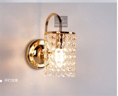 Aliexpress Com Buy Gold Silver Crystal Wall L Light