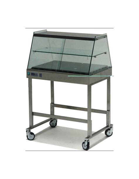 vetrina tavola calda vetrina calda su carrello vetri dritti cm 112x63x135h