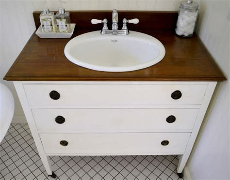 diy bathroom vanity from dresser how to make a dresser into a vanity tutorial