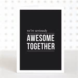 awesome together anniversary card by doodlelove notonthehighstreet