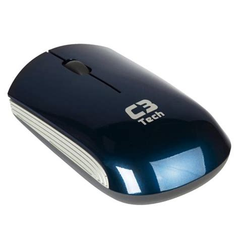 Mouse Wireless Mtech mouse 211 ptico wireless c3 tech m w200bl azul mouses no br