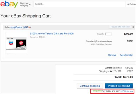 Check Ebay Gift Card - check if you are targeted for 10 ebay bucks on 150 purchases save on chevron