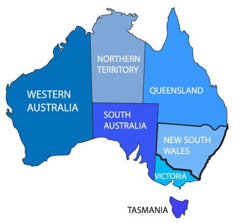 states in australia map australia states images search