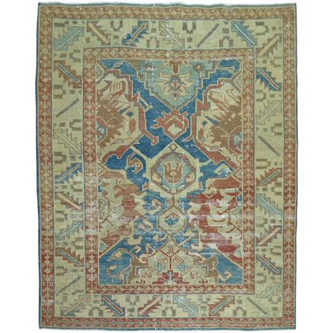 shabby chic vintage turkish heriz style carpet for sale at
