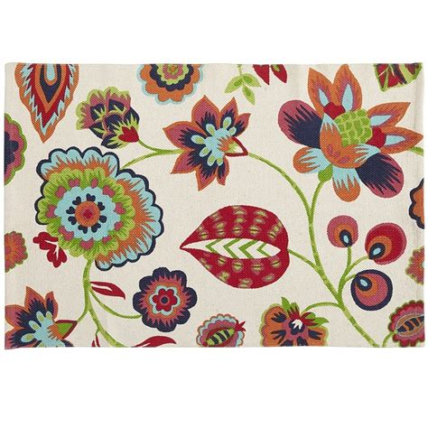 Bright Floral Rugs by Bright Floral Flatweave Rug Pier 1 Rugs
