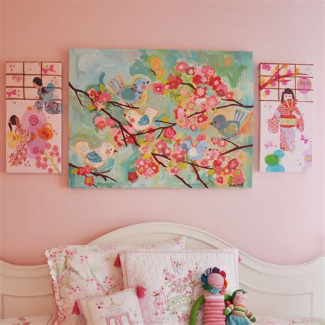 cherry blossom and birds wall plaque cherry blossom decor