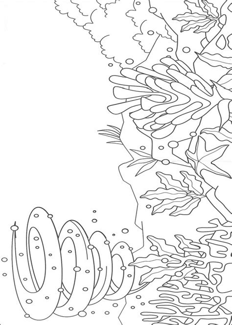 underwater coloring page underwater world coloring pages for kids