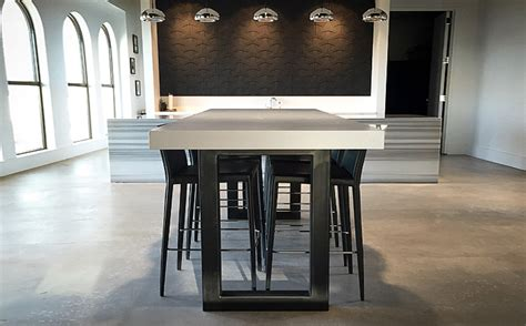 custom concrete table custom concrete kitchen dining tables trueform