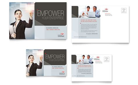 business postcard templates corporate business postcard template design