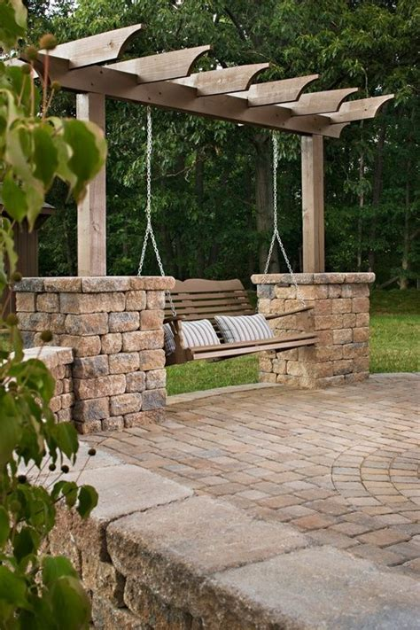 outdoor patio pergola swing great garden swing ideas to ensure a gregarious time for