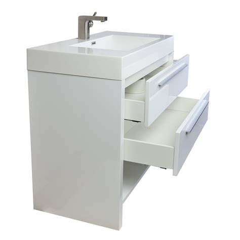 High Bathroom Vanities Buy Mula 35 5 In Modern Bathroom Vanity High Gloss White Rs L900 Hgw On Conceptbaths