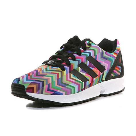 New Sepatu Running Zx Flux Multicolor new adidas zx flux multi coloured weave print fashion sneakers trainers b25394 ebay