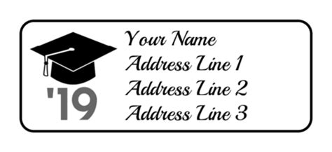 Graduation Address Labels