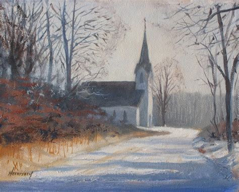 neil heimsoth painting quot winter church