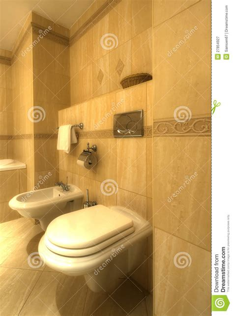 Bidet Z Wc by Bathroom With Bidet And Wc Royalty Free Stock Photography