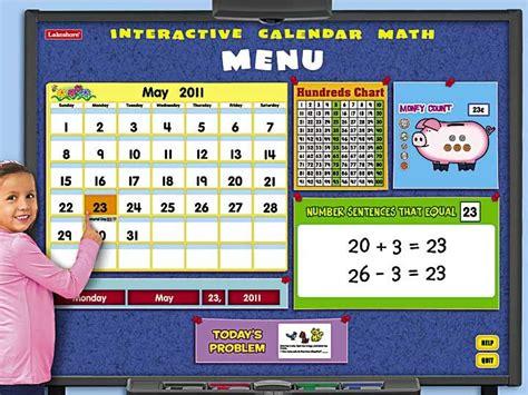 Calendar Math Interactive Calendar Math Program School