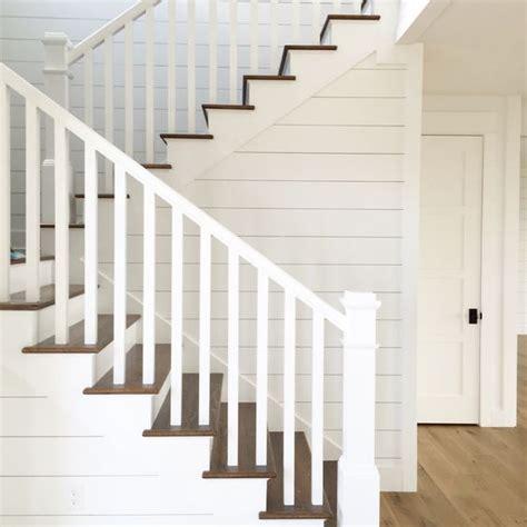 shiplap stairs white oak flooring kara hebert interiors - Shiplap On Stairs