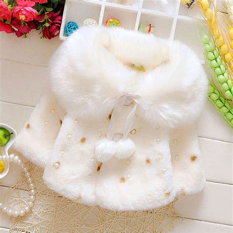 Anting Korea Fur Pompom Pearl Black 2015 autumn winter baby clothes overcoats for newborn infant baby clothing