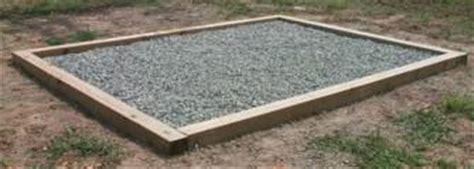 organizer shed foundation options