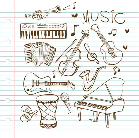 the sonars musical doodle free instruments doodle stock vector image of accordian