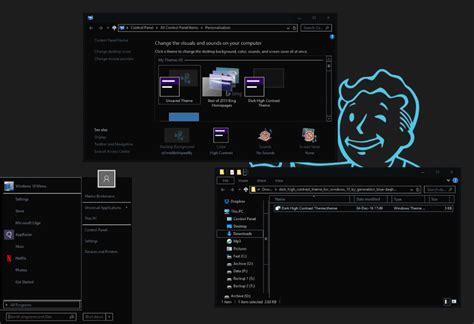 tech themes for windows 10 dark high contrast theme for windows 10 ghacks