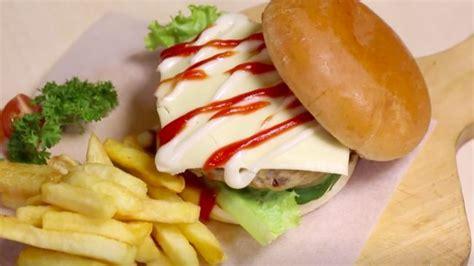resep burger oncom paduan legit menu asing  indonesia