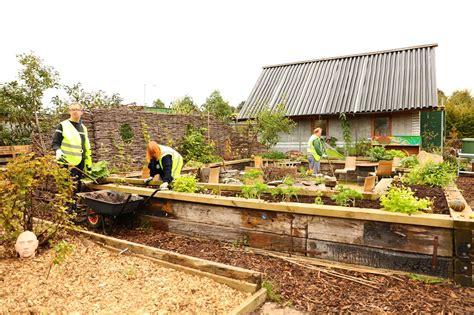 Garden Communities by Community Garden The Brick Building