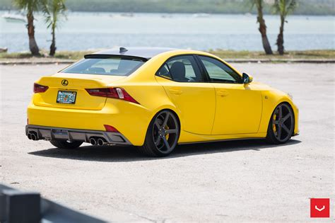yellow lexus lfa lfa yellow lexus is 350 sits on vossen wheels autoevolution