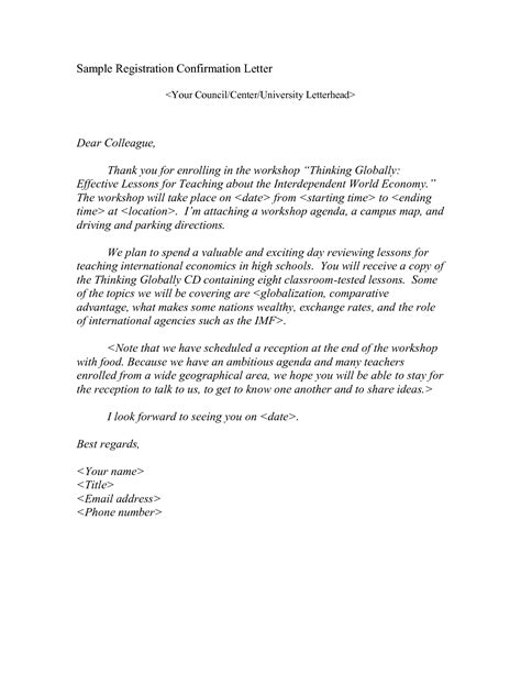 Student Confirmation Letter Nottingham exle of confirmation letter for free