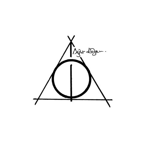 the deathly hallows tattoo design les reliques de la