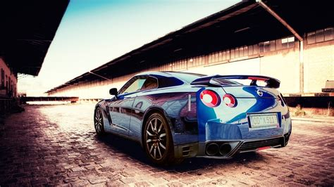 blue nissan car car nissan nissan gtr blue cars wallpapers hd desktop