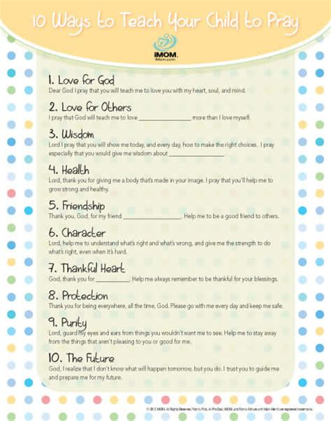 Good Gifts For Moms by 10 Ways To Teach Your Child To Pray Imom