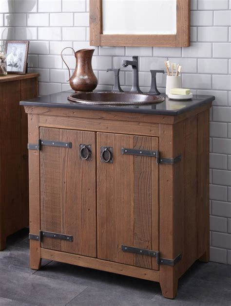 small farm sink for bathroom native trails 30 quot americana vanity in chestnut farmhouse