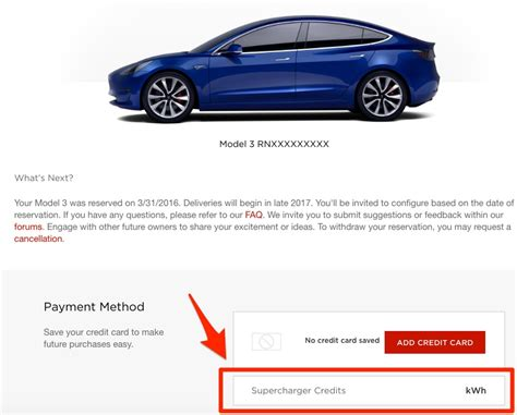 Tesla Payment Plan Tesla Model 3 Supercharger Credits Discovered On