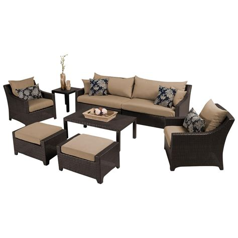 rst brands deco 8 patio seating set with delano