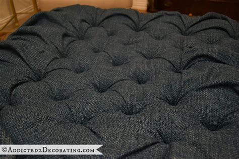 how to do diamond tufting upholstery diy ottoman coffee table part 1 how to do diamond tufting