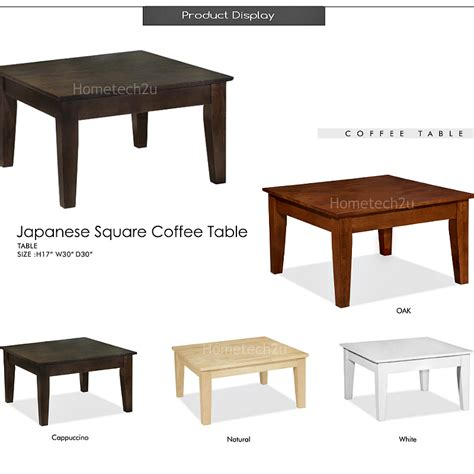Square Japanese Table Living Room Coffee Table
