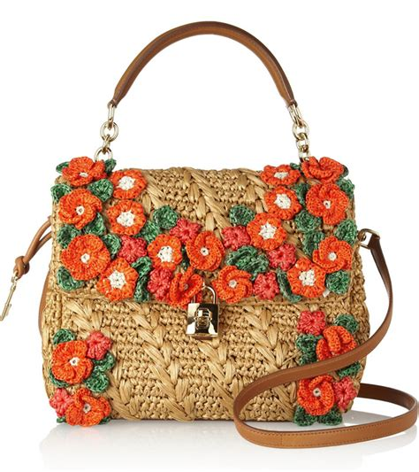 Dg Dolce And Gabbana Floral Canvas Satchel by Dolce Gabbana Makes Raffia Bags Look Anything But Rustic