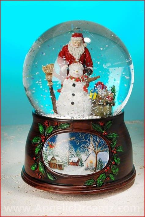 musical snowman snow globe inc musical santa with snowman water globe materials resin glass water size 5 5 quot h x 4