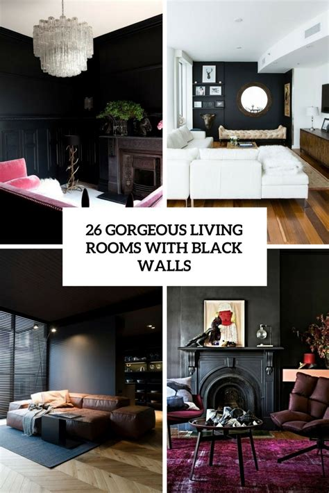Decorating Room With Black Walls - 26 gorgeous living rooms with black walls digsdigs