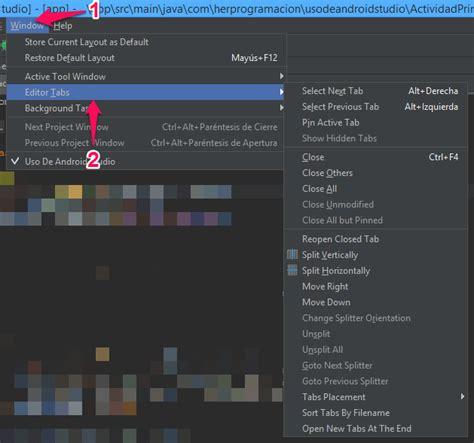 android studio editor tutorial tutorial de android studio navegaci 243 n en la interfaz