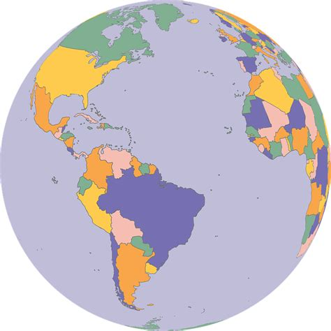 vector graphic borders countries earth globe