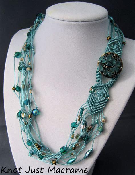 beaded macrame jewelry knot just macrame by sherri stokey beaded macrame necklaces