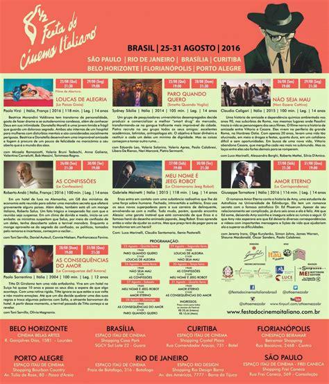 consolato italiano a belo horizonte 8 189 festa cinema italiano dal 25 al 31 agosto a belo