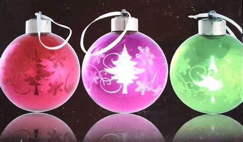weihnachtskugeln mit licht led glas weihnachts kugel dekokugel leuchtet multicolor