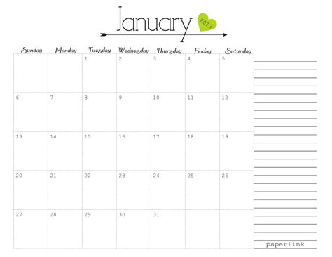 printable calendar girly free printable calendars january 2013