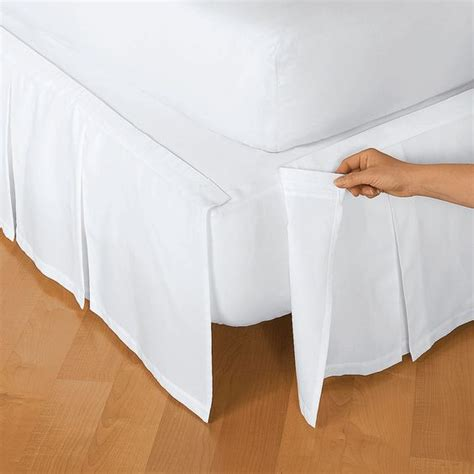 fitted bed skirt fitted sheet on box spring and then attach skirt with