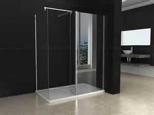 Shower Tray And Door 1200x800mm Walk In Shower Enclosure Door Shower Tray Trap Waste Ebay
